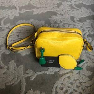 Jcrew women's Signet leather crossbody handbag